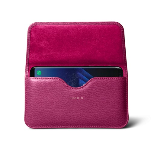 Belt Case for Samsung Galaxy S8+ - Fuchsia  - Granulated Leather