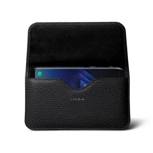 Belt Case for Samsung Galaxy S8+ - Black - Granulated Leather