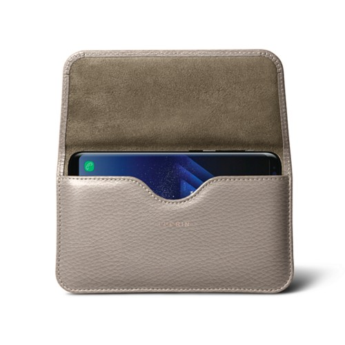 Belt Case for Samsung Galaxy S8+ - Light Taupe - Granulated Leather