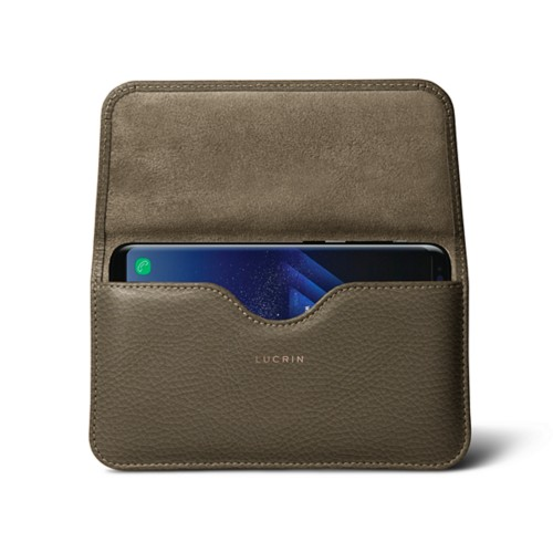 Belt Case for Samsung Galaxy S8+ - Dark Taupe - Granulated Leather