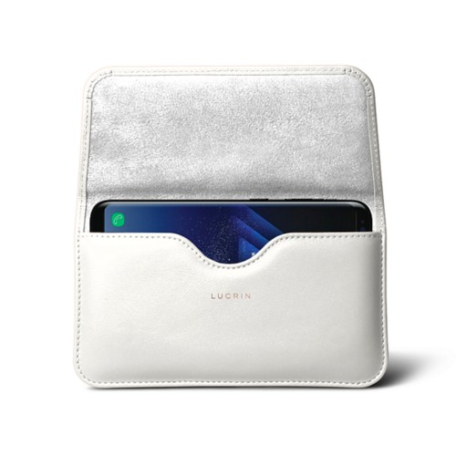 Belt Case for Samsung Galaxy S8+ - White - Smooth Leather