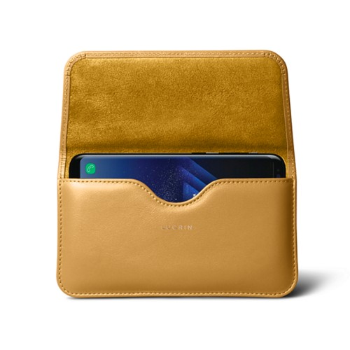 Belt Case for Samsung Galaxy S8+ - Mustard Yellow - Smooth Leather
