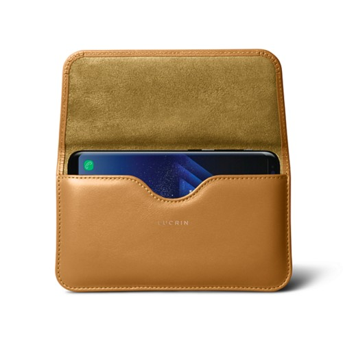 Belt Case for Samsung Galaxy S8+ - Natural - Smooth Leather
