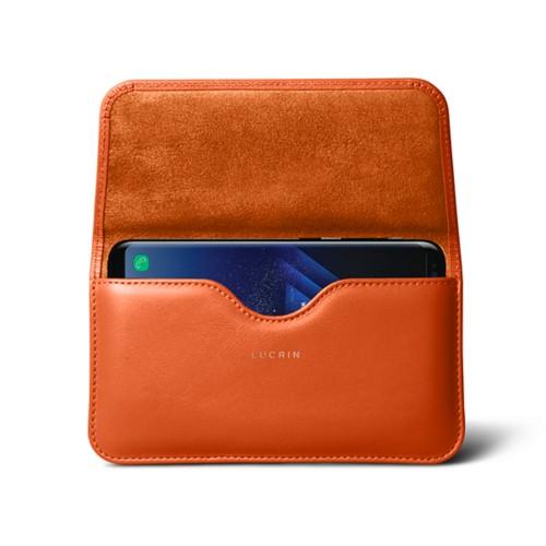 Belt Case for Samsung Galaxy S8+ - Orange - Smooth Leather