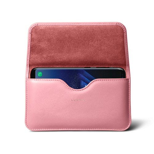 Belt Case for Samsung Galaxy S8+ - Pink - Smooth Leather