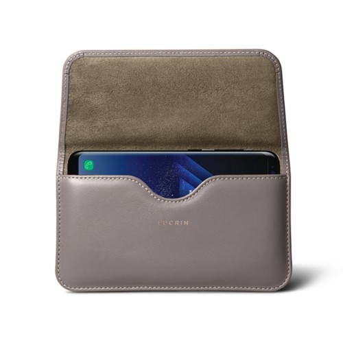 Belt Case for Samsung Galaxy S8+ - Light Taupe - Smooth Leather