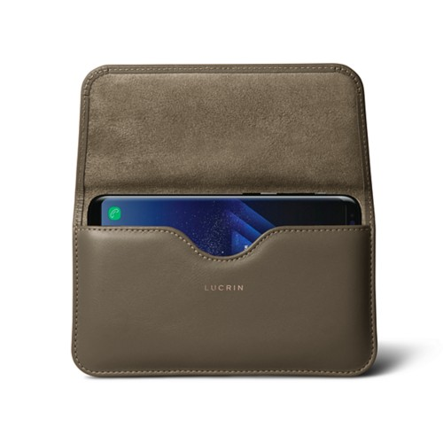 Belt Case for Samsung Galaxy S8+ - Dark Taupe - Smooth Leather