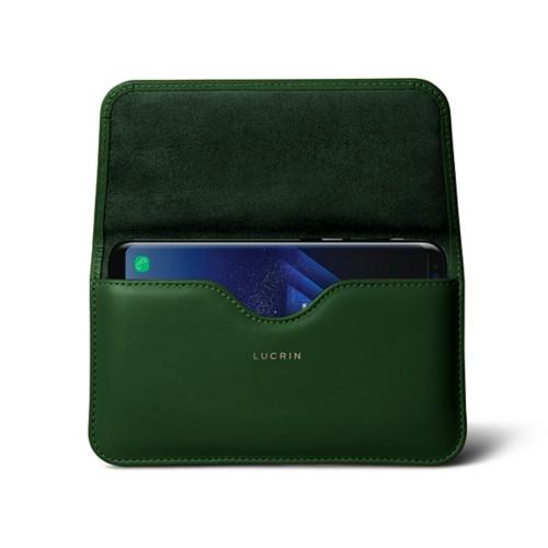 Belt Case for Samsung Galaxy S8+ - Dark Green - Smooth Leather