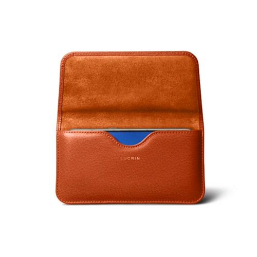 Belt case for Galaxy S7 - Orange - Goat Leather
