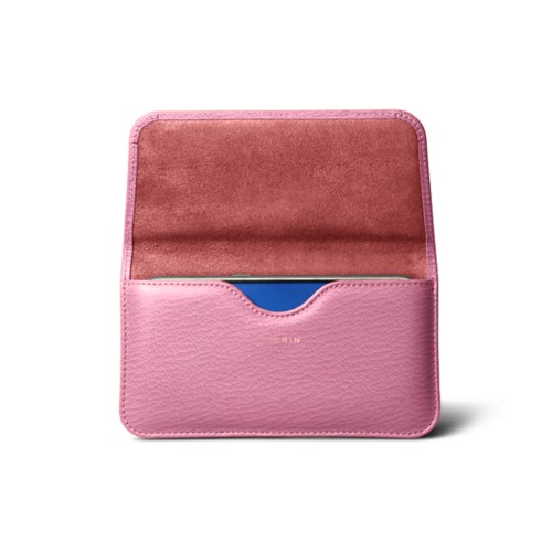 Belt case for Galaxy S7 - Pink - Goat Leather