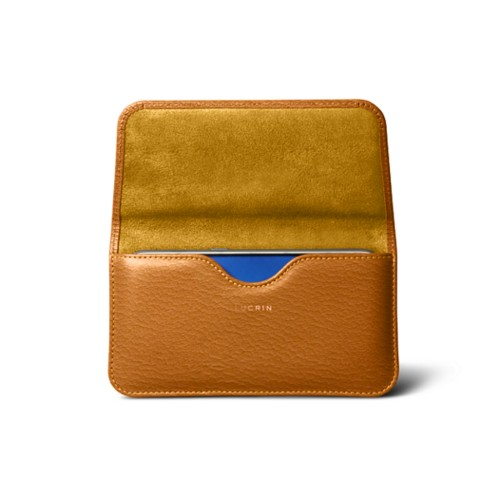 Belt case for Galaxy S7 - Saffron - Goat Leather