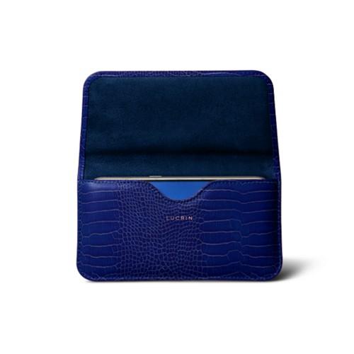 Belt case for Galaxy S7 - Royal Blue - Crocodile style calfskin