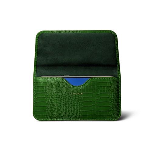 Belt case for Galaxy S7 - Light Green - Crocodile style calfskin