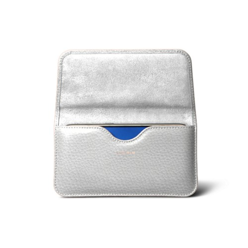 Belt case for Galaxy S7 - White - Granulated Leather
