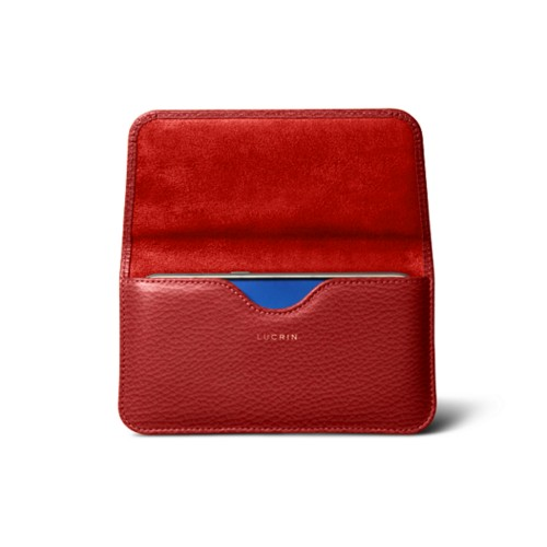 Belt case for Galaxy S7 - Red - Granulated Leather