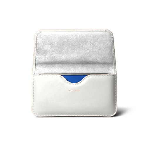 Belt case for Galaxy S7 - White - Smooth Leather