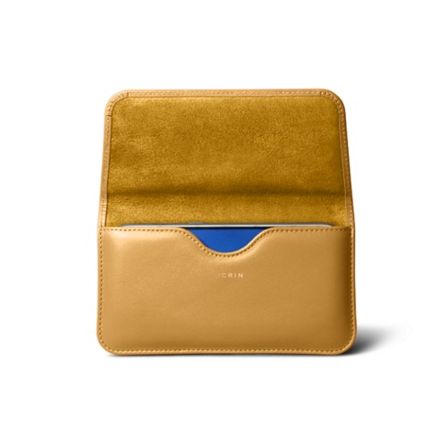 Belt case for Galaxy S7 - Mustard Yellow - Smooth Leather