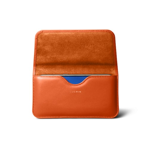Belt case for Galaxy S7 - Orange - Smooth Leather