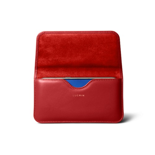 Belt case for Galaxy S7 - Red - Smooth Leather