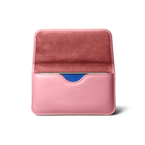 Belt case for Galaxy S7 - Pink - Smooth Leather