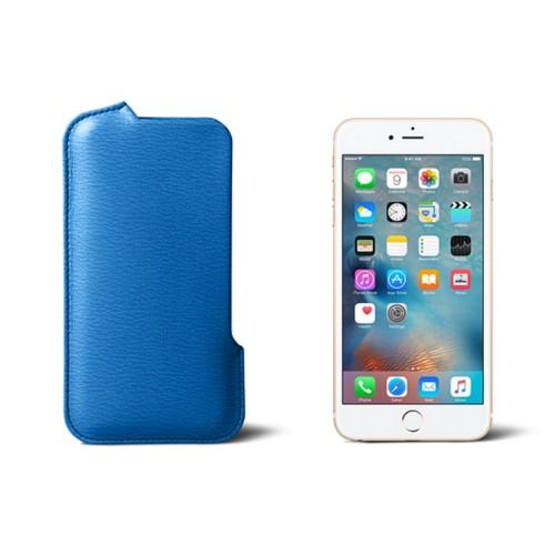 Capa para iPhone 6 Plus/6S Plus com abertura lateral - Azul Real - Couro de Cabra