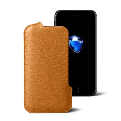 Funda para el iPhone 7 Plus - azafrán amarillo - Piel de Cabra