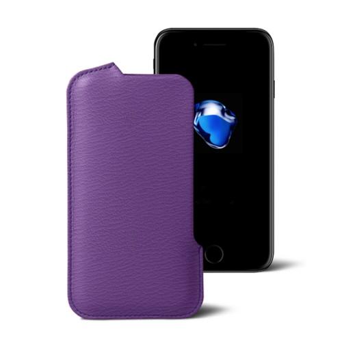 Funda para el iPhone 7 Plus - Violeta - Piel de Cabra