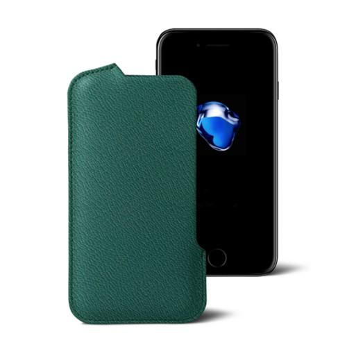 Hülle für das iPhone-7-Plus - Dunkelgrün - Ziegenleder