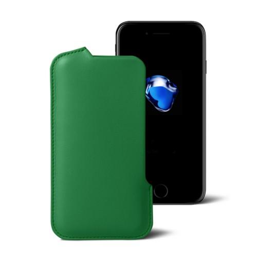 Hülle für das iPhone-7-Plus - Hellgrün - Glattleder