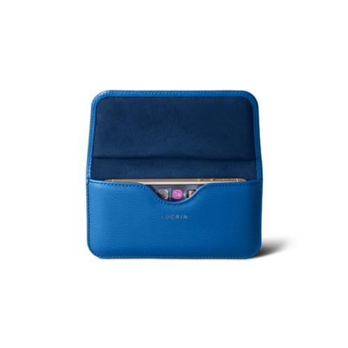 Belt case for iPhone SE/5/5s - Royal Blue - Goat Leather