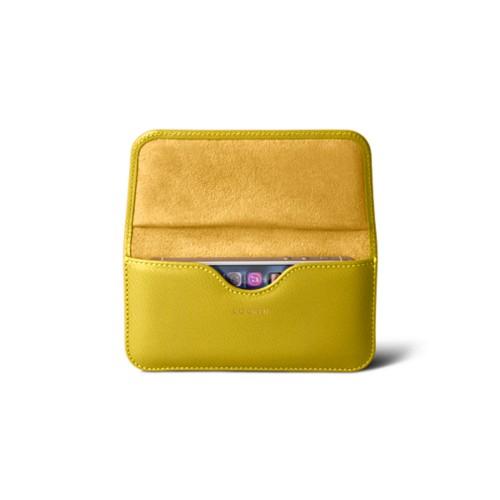 Belt case for iPhone SE/5/5s - Lemon Yellow - Goat Leather