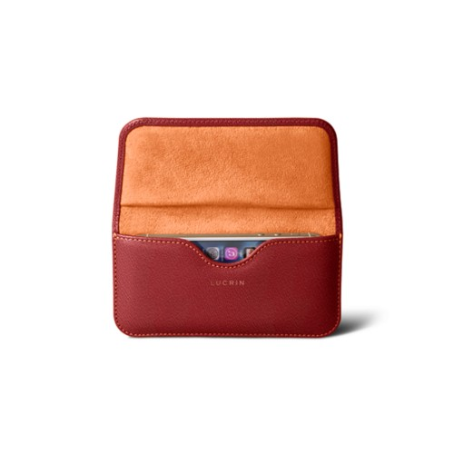 Belt case for iPhone SE/5/5s - Pink Salmon - Goat Leather