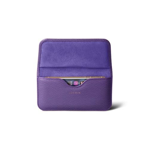 Belt case for iPhone SE/5/5s - Lavender - Granulated Leather