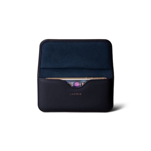 9e2d74d80523 Etui ceinture iPhone SE 5 5s Bleu Marine - Cuir Lisse ...