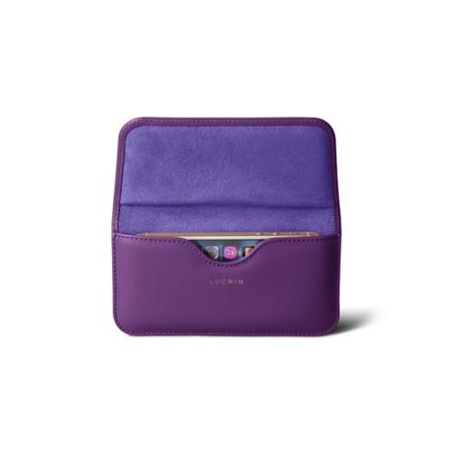 Belt case for iPhone SE/5/5s - Lavender - Smooth Leather