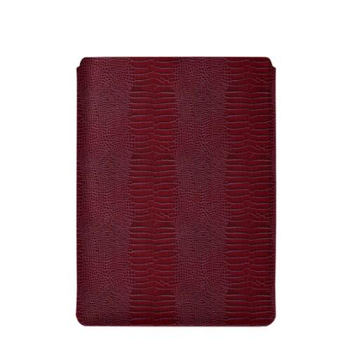 "Macbook Pro 15"" Touch Bar pouch - Fuchsia  - Crocodile style calfskin"