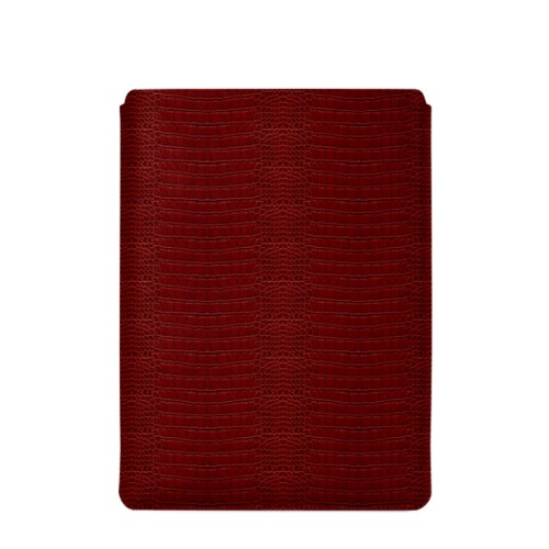 "Macbook Pro 15"" Touch Bar pouch - Red - Crocodile style calfskin"
