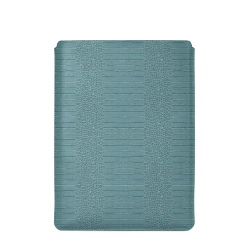 """Macbook Pro 15"""" Touch Bar pouch - Turquoise - Crocodile style calfskin"""