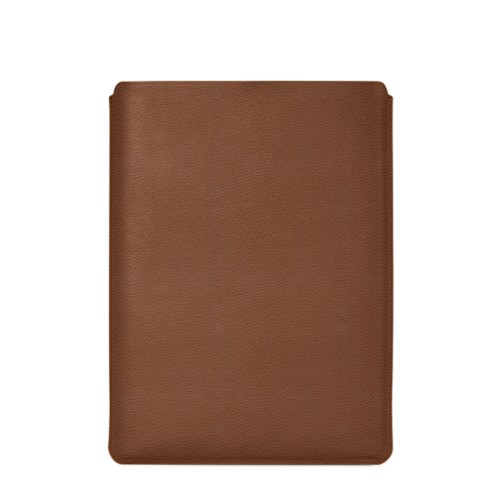 """Macbook Pro 15"""" Touch Bar pouch - Tan - Granulated Leather"""