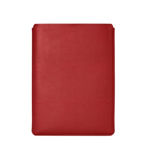 "Macbook Pro 15"" Touch Bar pouch - Red - Granulated Leather"
