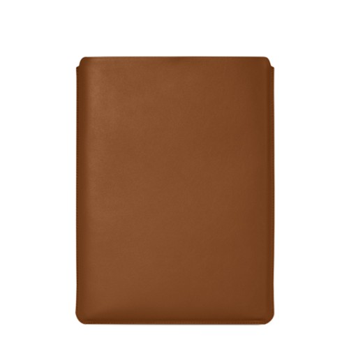"""Macbook Pro 15"""" Touch Bar pouch - Tan - Smooth Leather"""