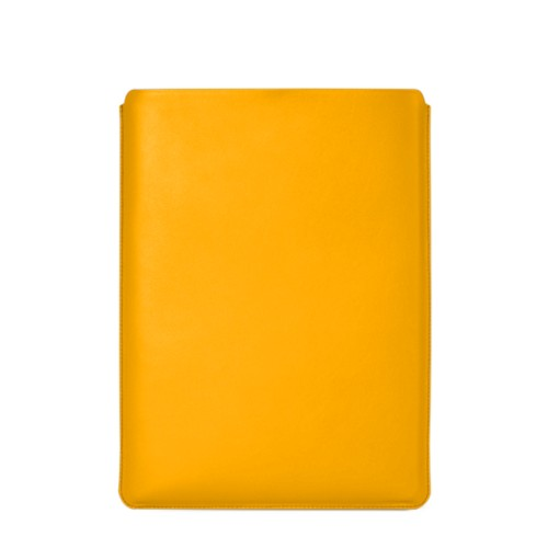 """Macbook Pro 15"""" Touch Bar pouch - Sun Yellow - Smooth Leather"""