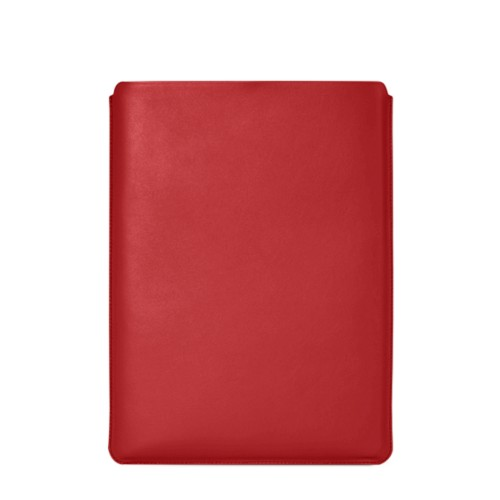 "Macbook Pro 15"" Touch Bar pouch - Red - Smooth Leather"