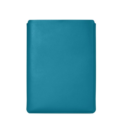 "Macbook Pro 15"" Touch Bar pouch - Turquoise - Smooth Leather"