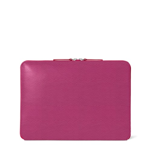 "MacBook Pro 13"" Touch Bar Zipped Pouch - Fuchsia  - Granulated Leather"