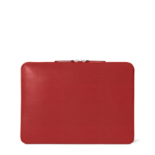 "MacBook Pro 13"" Touch Bar Zipped Pouch - Red - Granulated Leather"