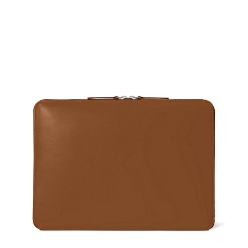 """MacBook Pro 13"""" Touch Bar Zipped Pouch - Tan - Smooth Leather"""