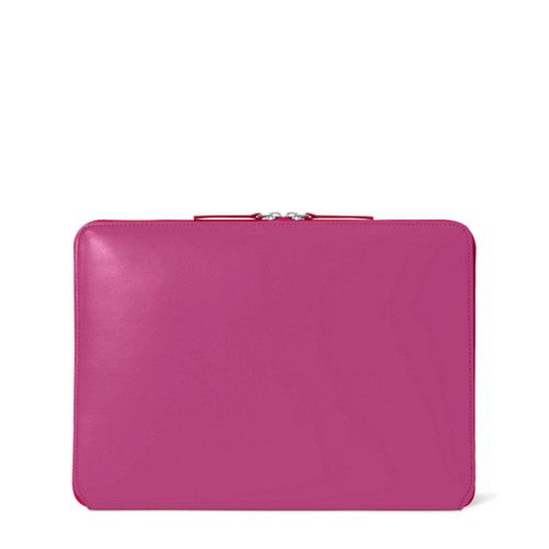 "MacBook Pro 13"" Touch Bar Zipped Pouch - Fuchsia  - Smooth Leather"