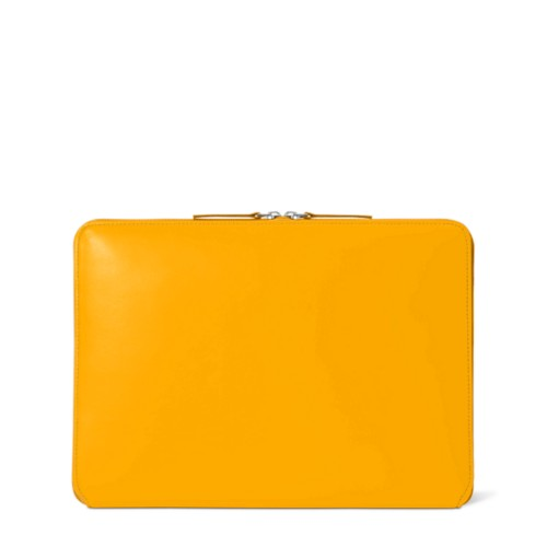 """MacBook Pro 13"""" Touch Bar Zipped Pouch - Sun Yellow - Smooth Leather"""
