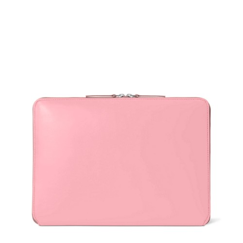 "MacBook Pro 13"" Touch Bar Zipped Pouch - Pink - Smooth Leather"